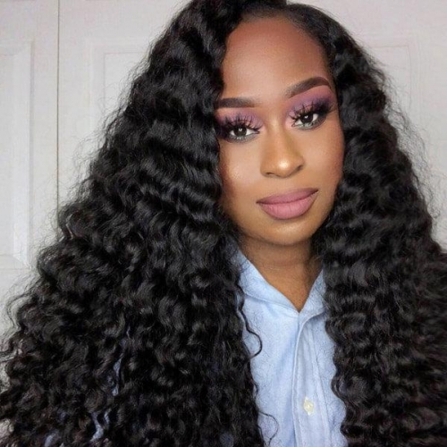 Eseewigs Brazilian Deep Wave 4 Bundles Virgin Human Hair