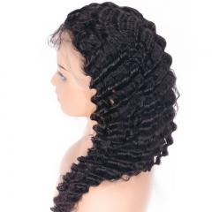 Glueless Full Lace Wig Brazilian Deep Wave Human Hair Wigs For Black Women Lace Front Wig With Baby Hair