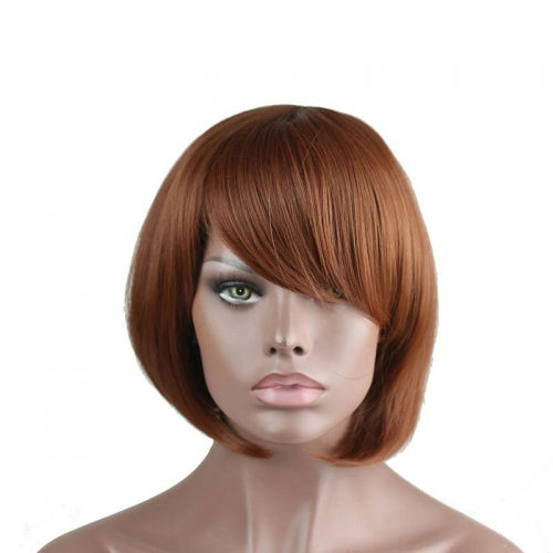 Eseewigs Maroon Wig Free Part Synthetic Short BoB Wig For Women Heat Resistant Fiber Hair 10~14inch