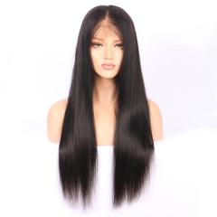 Brazilian Full Lace Human Hair Wigs Straight 130 Density Lace Front Wig Human Hair