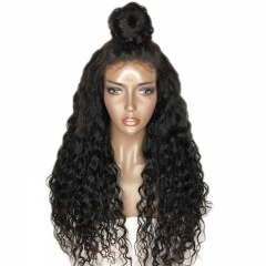 Brazilian Remy Human Hair Deep Wave Glueless Full Lace Wig With Baby Hair For Black Women
