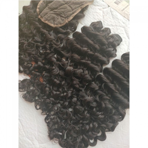 "Wholesale 8""-32"" Cuticle Aligned 12A Virgin Unprocessed Burmese Deep Curly Virgin Hair One Doner Hair"