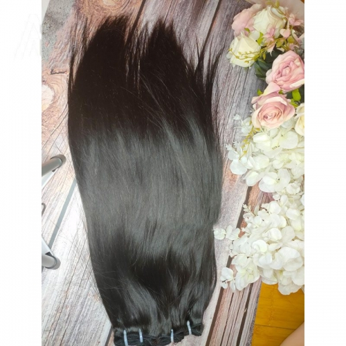 "Cuticle Aligned Raw Virgin Hair Weave 8""-30"" Natural Color Burmese Human Straight Hair Bundles No Tangle No Shed"