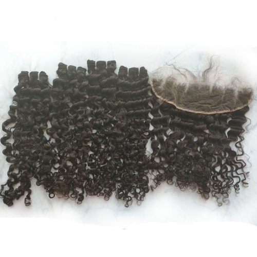 Wholesale Garde 12A 100% Unprocessed Cuticle Aligned Virgin Raw Burmese Hair Bundles Curly  No Tangle No Shedding