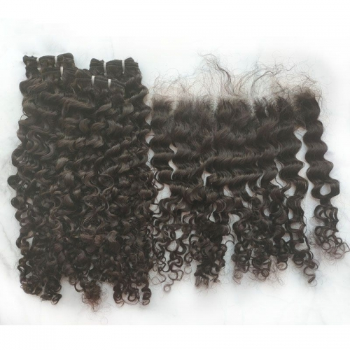 "Best Garde 12A Pure Natural Color Burmese Curly Human Hair Weave Bundles 8""-30"" In Stock, Raw Virgin Burmese Hair Can Be Dyed"