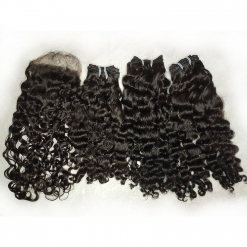"Burmese Curly Hair Vendor Wholesale Raw Unprocessed Burmese Deep Curly Weave Bundle 8""-30"" Natural Color Burmese Curly Hair"