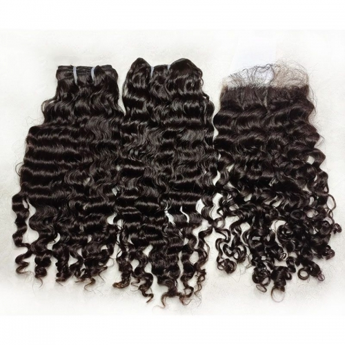 "New Arrival Raw Burmese Curly Human Hair Weave Bundles 8""-30"" Grade 12A Burmese Deep Curly Human Hair Extensions Can Be Dyed"