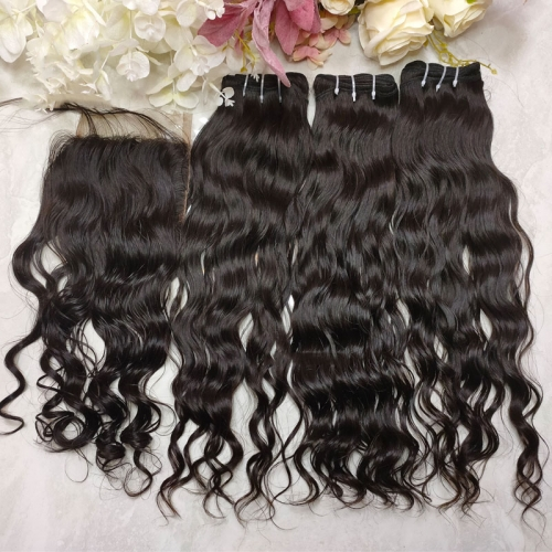 "Grade 12A Naturally Raw Cambodian Hair Unprocessed Cuticle Aligned Loose Wave Virign Hair Weave Bundles 8""-30"""