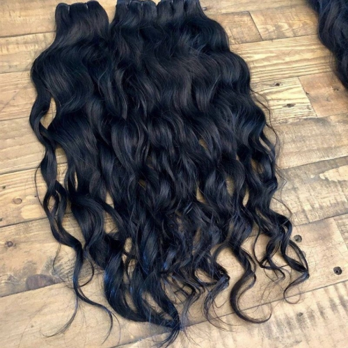 "Wholesale Bundle Virgin Hair Vendor Burmese Wavy Virgin Cuticle Aligned Hair 8""-30"" No Tangle No Shedding"