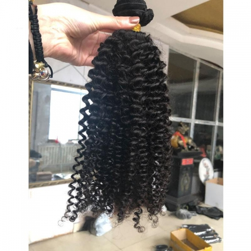 Sale 3B3C Afro Kinky Human Hair Extensions Natural Color, Grade 12A Virgin Mongolian Afro Kinky Curly Hair Natural Color