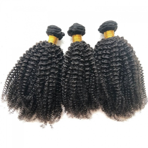 "Sale Mongolian Afro Kinky Curly Hair Weave Bundles 4a4b Kinky Curly Mongolian Human Grade 12A Virgin Hair Extensions 8""-40"""