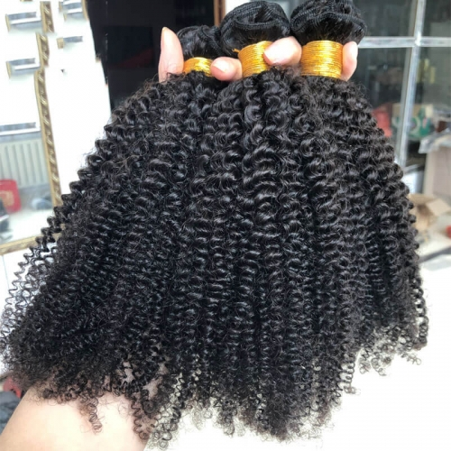 Top Grade 12A Virgin Mongolian Afro Kinky Curly Hair Unprocessed Virgin 4a4B Afro Kinky Curly Hair Extensions Weave