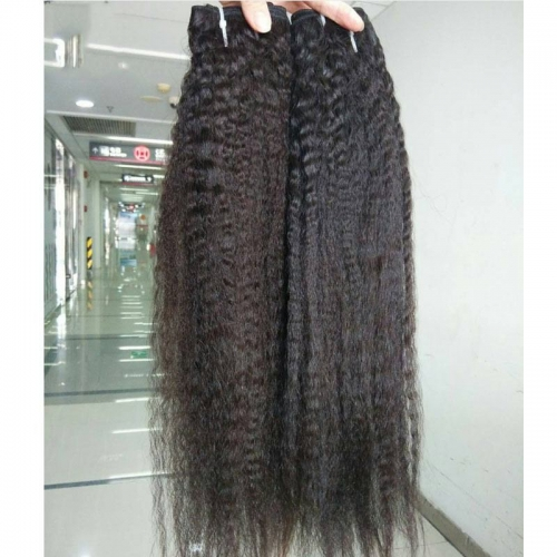 "Selling Kinky Straight Weave Hair 8""-40"" Grade 12A Virgin Mongolian Human Hair Weave Natural Color Wholesale In Stock"