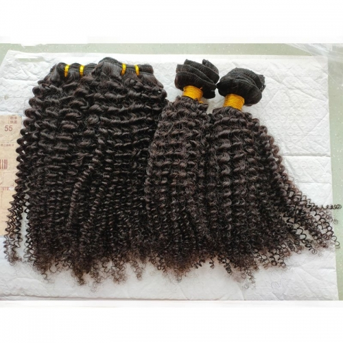 "Wholesale 3C4A Kinky Virgin Hair Bundles Best Quality Grade 12A Mongolian Human Virgin Kinky Curly Hair 8""-40"" Big Stock"