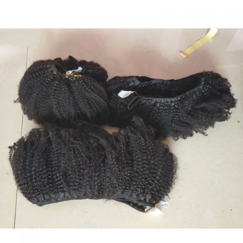 "Sale Afro Kinky Hair Extensions 4C Kinky Coily Hair Bundles 8""-26""  Top Grade Mongolian Virgin Afro Kinky Curly Hair"