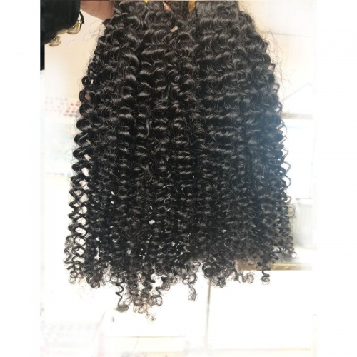Wholesale Virgin Hair Vendors 3B3C Kinky Curly Hair Weave Bundles High Quality 12A Virgin Cuticle Aligned Human Hair Can Be Dyed