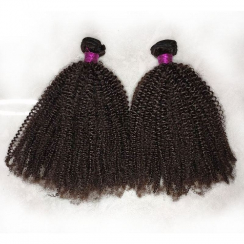 New Arrival Human Hair Weave Bundles Top Grade Mongolian Kinky Curly 4B4C Virgin Double Drawn Hair 8-30 Inch