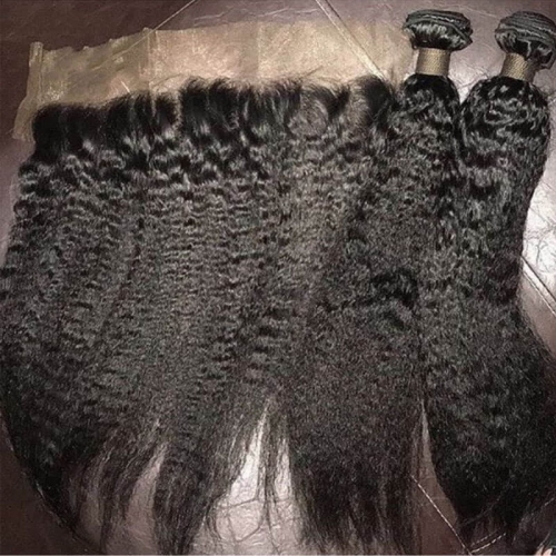 Wholesale High Quality Full Cuticle Aligned Kinky Straight Hair 12A Grade Mongolian Kinky Straight Virgin Hair Can Be Dyed