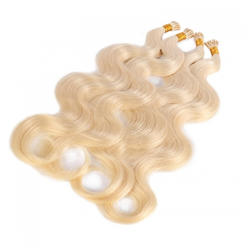 Remy 100% Human Wholesale India Thick End Straight I Tip Hair