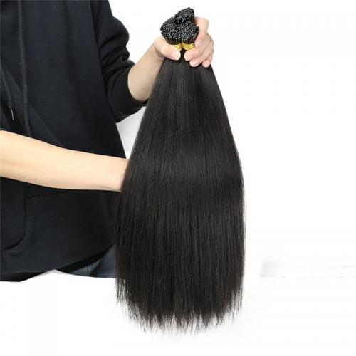 Wholesale 100% Cuticle Aligned Real Indian I Tip Human Hair Extensions