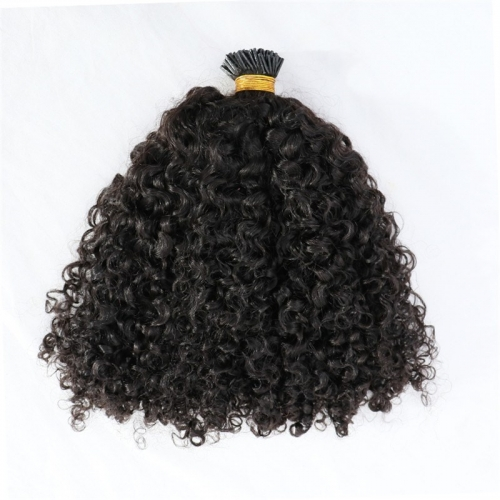 Wholesale Curly Human Hair I Tip Indian Hair Extensions
