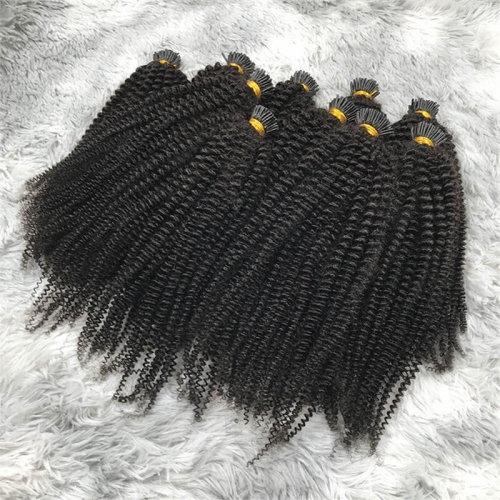 Wholesale Price Double Drawn Brazilian Unproccessed Raw Virgin Human Hair Vendors I-Tip Hair Extensions