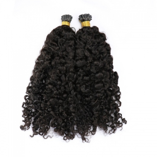 India Kinky Curly Real Raw Remy Cuticle Aligned Wholesale I Tip Hair Extensions Wholesale