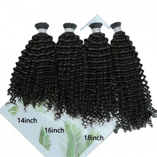 Factory Price Double Drawn Thick End Blond Color Raw I Tip Indian Hair Extensions