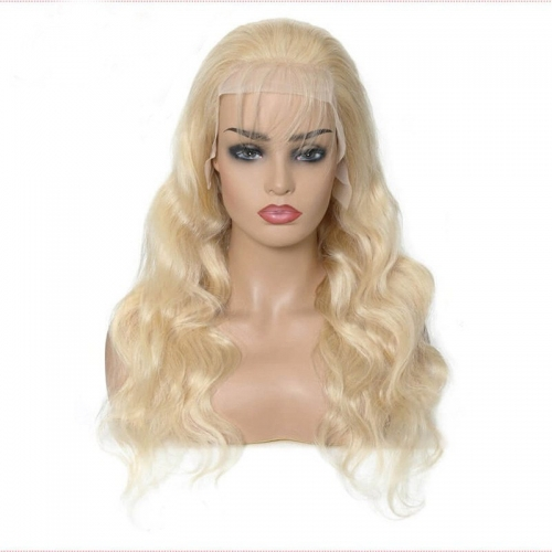 613 Honey Blonde Color Remy Brazilian Straight Lace Front Human Hair Wig 8 - 24 inch Frontal Wigs for Black Women