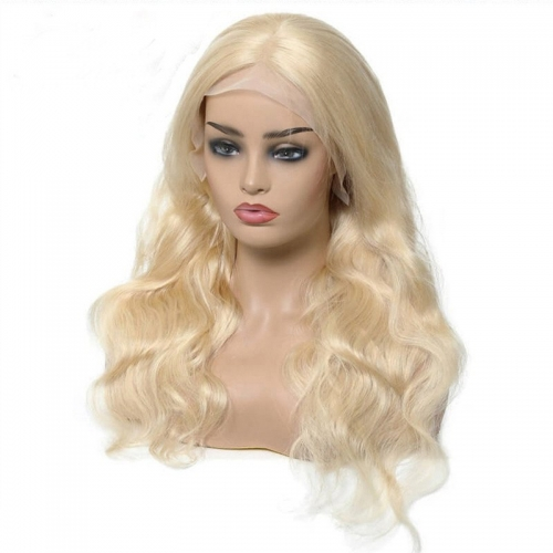 613 Blonde Lace Front Wigs Pre plucked With Baby Hair Body Wave Lace Front Human Hair Wigs 13x4 Transparent Lace Front Wigs