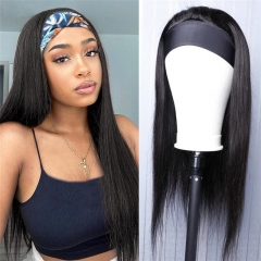 Headband Human Hair Wig Glueless Brazilian Straight Human Hair Wigs for Women