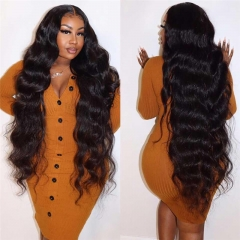 Human Hair Wigs For Black Women Glueless 100% Brazilian Remy Hair Wig Pretty Body Wave Lace Front Wig 8-30 inch