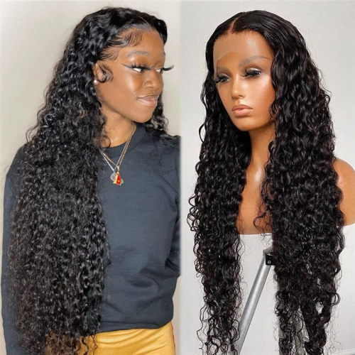 Water Wave 13x6 Lace Wigs 28 30 Inch Human Hair Lace Frontal Wig T Part Remy Brazilian Water Wave 13x4 Lace Front Human Hair Wigs