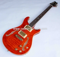 PRS hollow body electric guitar