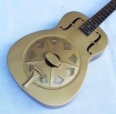 Metal body guitar, resonator guitar