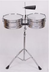 Timbal with cowbell and stand
