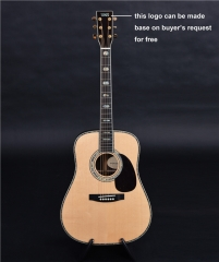 D45 Dreadnought acoustic guitar, ebony fingerboard