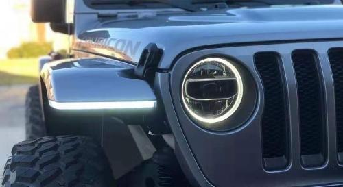 High Fender flares with amber light  for Jeep Wrangler 2018  JL