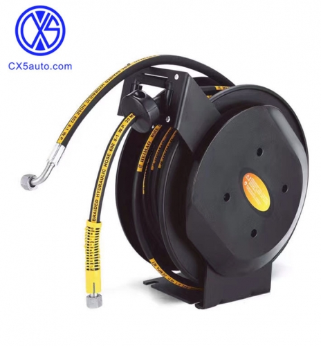Double arm high pressure hose reel