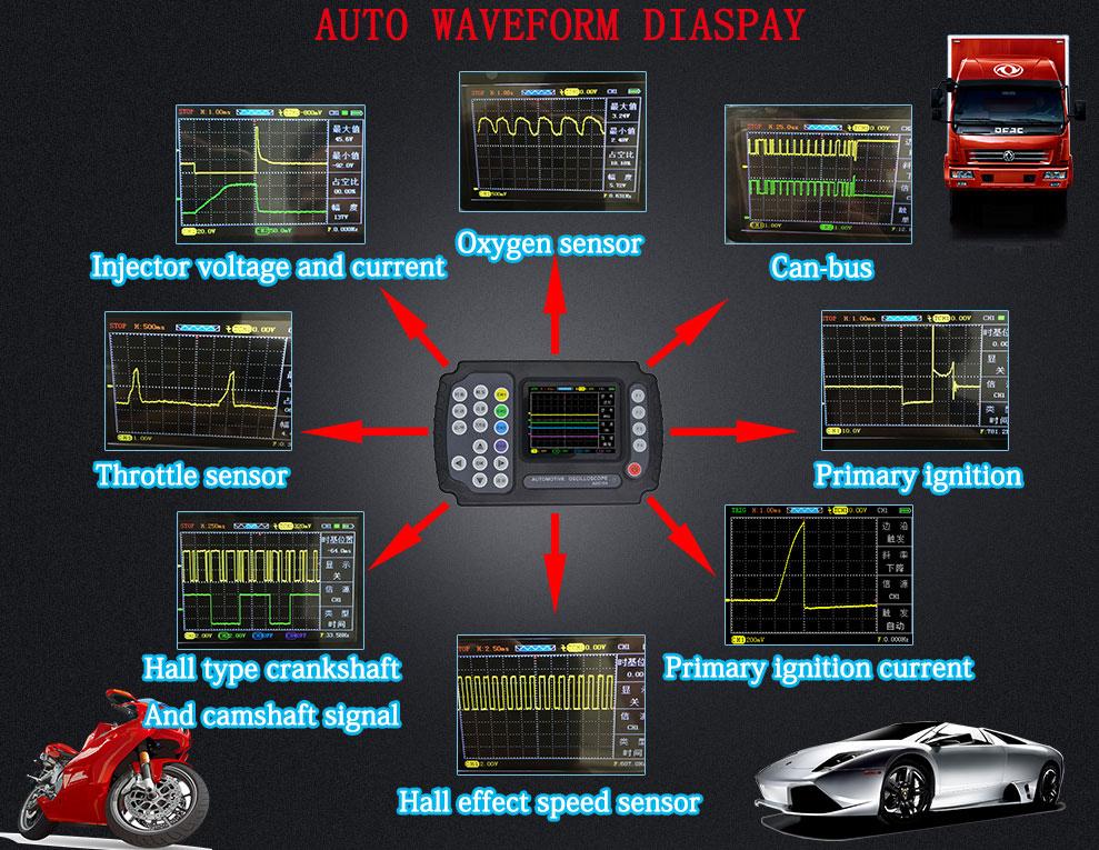 ADO102 Automotive Oscilloscope,Diagnostic tool