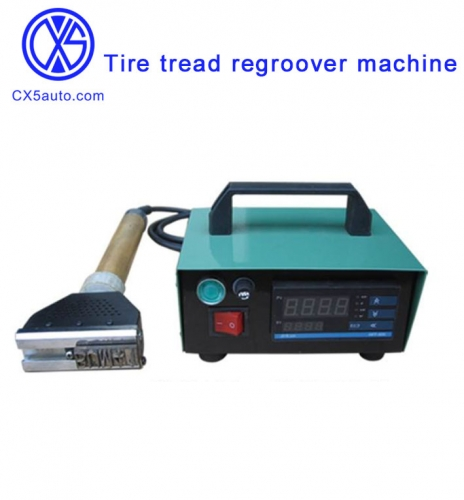 Tire tread regroover machine