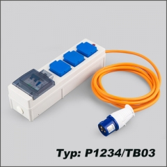 IP44 extension socket with USB