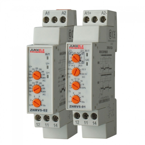 Single three phase under over voltage relay