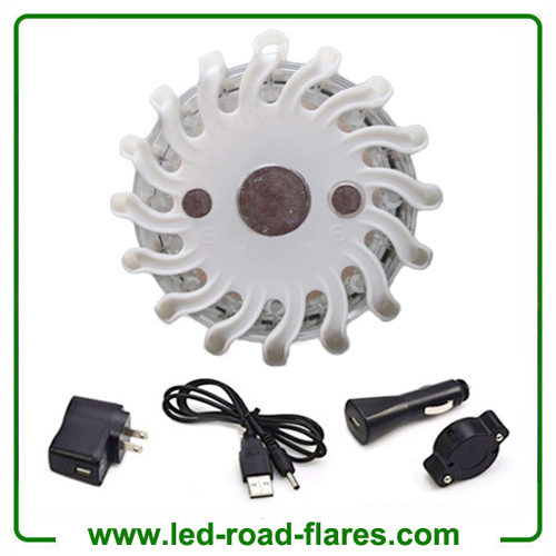 White Rechargeable Led Road Flares Kits