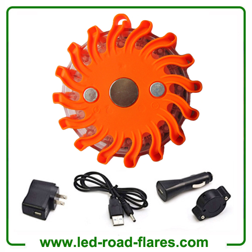 Amber Orange Rechargeable Led Road Flares Kits