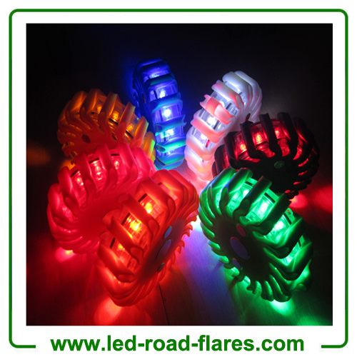 Amber Orange Red Yellow Blue White Black Rechargeable Led Road Flares Kits