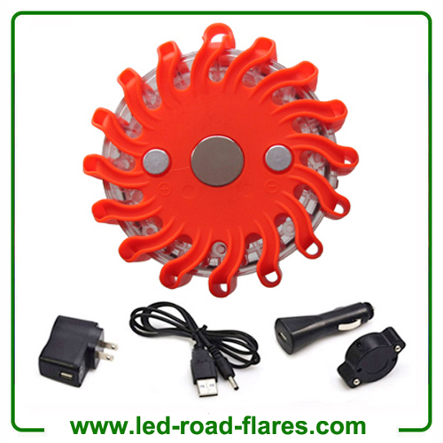 Red Rechargeable Led Road Flares Kits