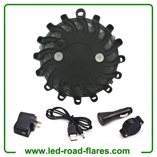 Black Rechargeable Led Road Flares Kits