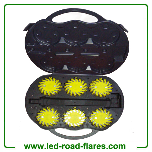 6 Packs Rechargeable Led Road Flares Yellow