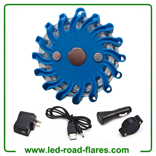 Blue Rechargeable Led Road Flares Kits